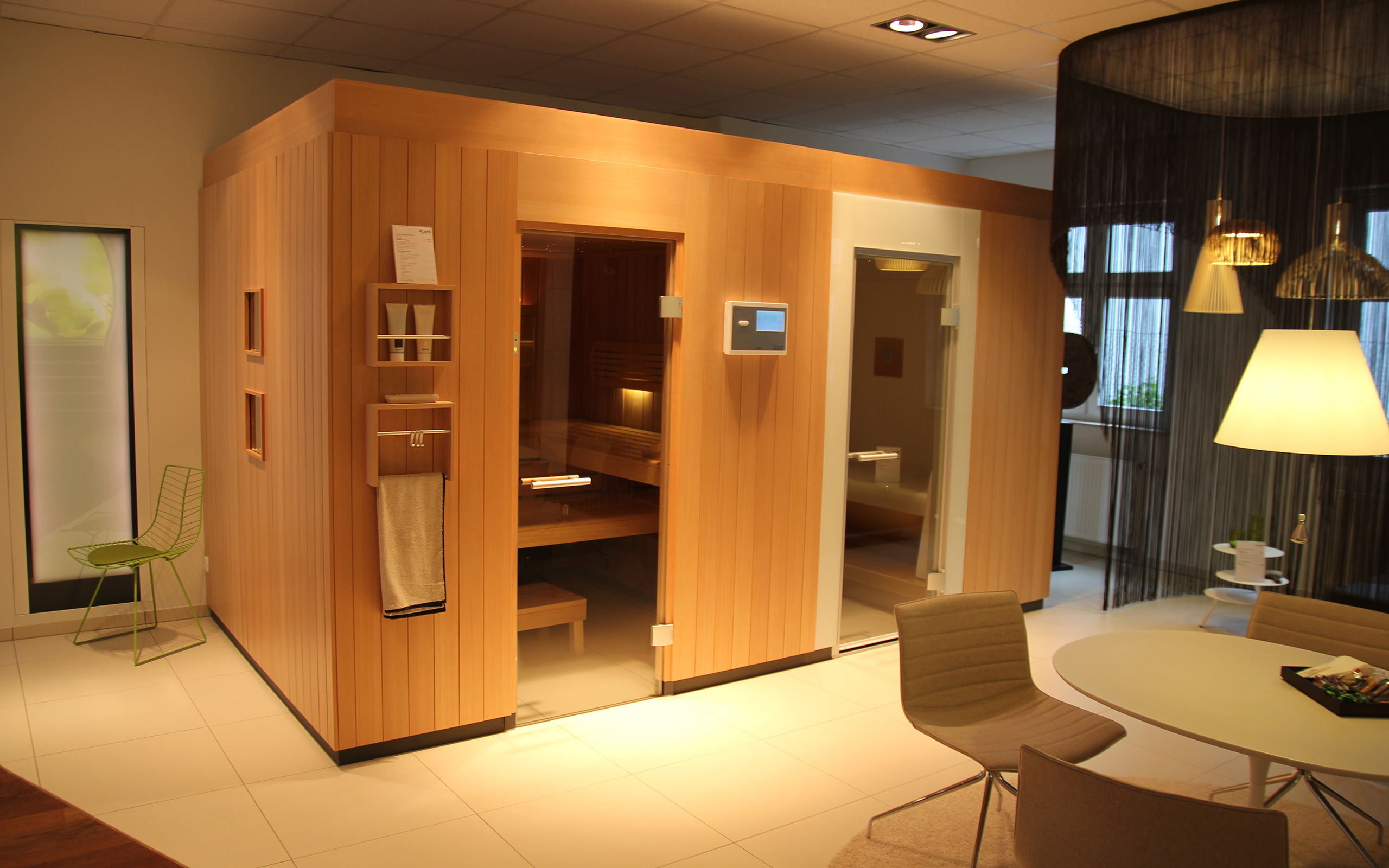 sauna ausstellung in k ln. Black Bedroom Furniture Sets. Home Design Ideas